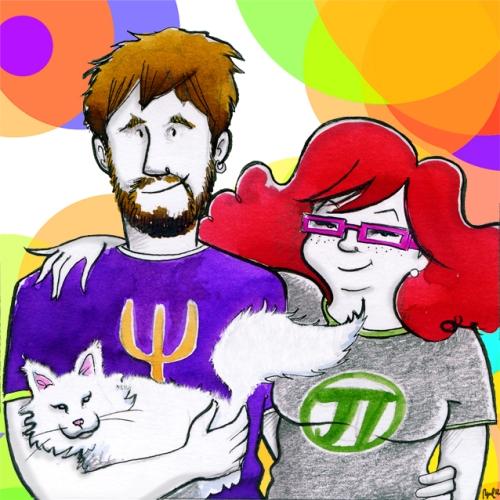 Mati y Fis dibujados por Raquel para Mati y sus mateaventuras
