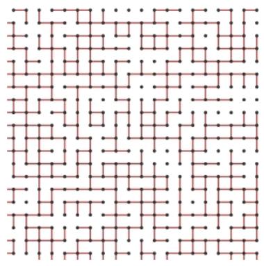 Conexión con una p=0.7 de crear un nexo entre dos nodos vecinos.