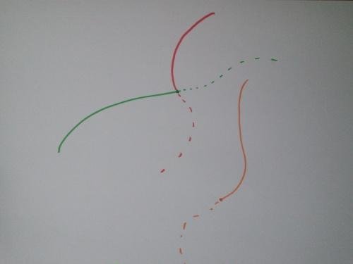 Las curvas, que representan geodésicas, se pueden extender sin problemas todo lo que queramos