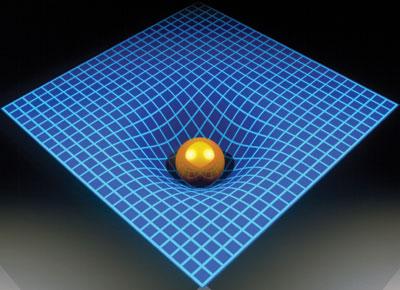 espacio tiempo curvado masa